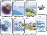 Création - Nous devons remonter le puzzle de la création où Dieu créera chaque jour.