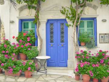 Greek islands - The town of Pyrgos on the island of Tinos