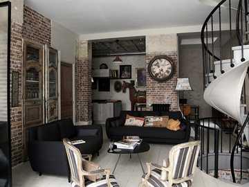 livingroom - industrial style decoration