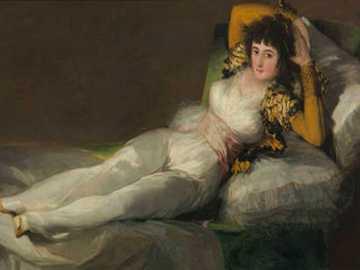 The Clothed Maja - Został udostępniony publiczności w salach Academia de San Fernando, podobnie jak Prado w 1901 rok