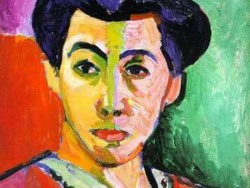 Henri Matisse - Portrait of woman with green stripe