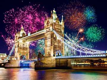 Fireworks in London. - Fireworks in London.