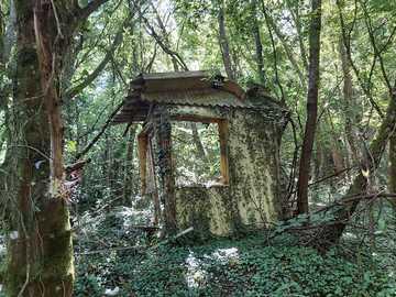 Pozostałości chaty - Bois Prudhomme Élancourt Yvelines