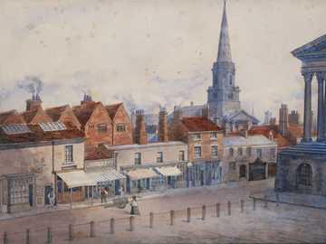 malowanie wsi - Congreve Street, Town Hall, Christ Church, Birmingham, bez daty. Artysta nieznany.