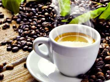 coffee in the morning - freshly brewed coffee in the morning