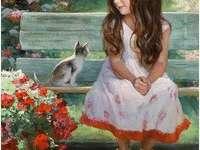 Κορίτσι και γατάκι =) 1973