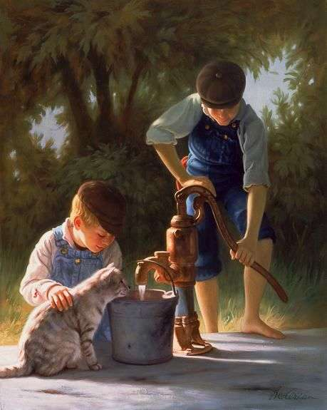 Γλυκό νερό από την αντλία - Μια αντλία φράουλας (9×11)