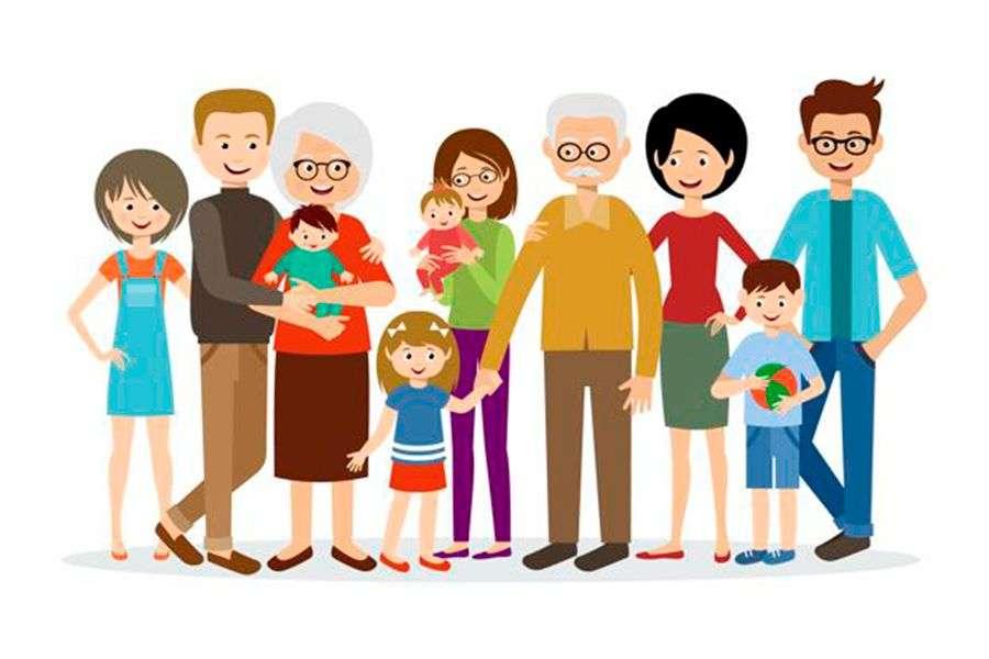 Familie - onze familie is gelukkig en we hebben plezier (9×6)