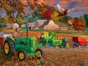 Paysage rural. - Puzzle: paysage rural.