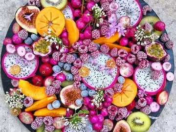 Fruit Plate - A plate full of colorful and delicious fruit