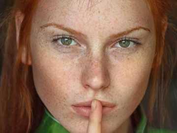 Freckled redhead =) Linda !! - Freckled redhead =) cute !!