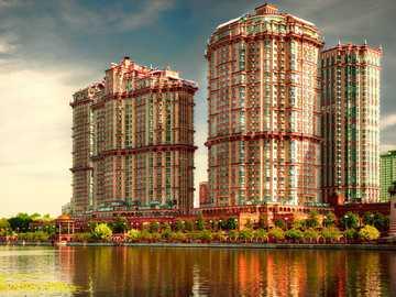 Arquitectura - rascacielos muy coloridos
