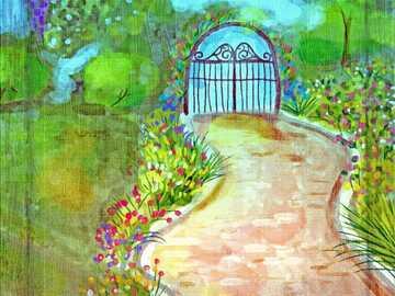 Malarstwo - zaczarowany ogród -----