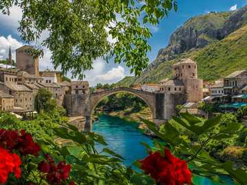 Bosnia Herzegovina - Bridge over the Neretva River
