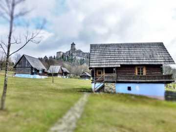 A village - A village near a slovak castle