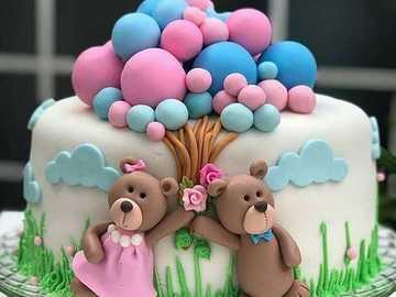 Torta paseando con los osos =) - Torta paseando con los osos =)