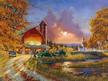 Autumn in the countryside. - Puzzle puzzle: autumn in the countryside.