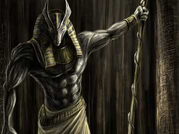 God Anubis - god of the dead in ancient Egypt