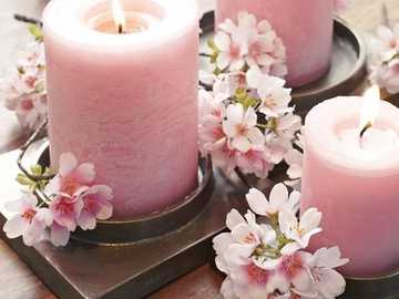 Velas de color rosa - Ροζ κεριά