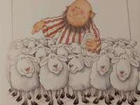 Hirte und Schaf