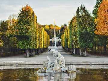Panorama - Vienna - park in autumn colors