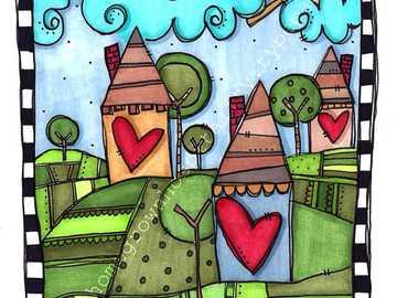 kazeina - Układaj puzzle z tymi trzema pięknymi kolorowymi domami