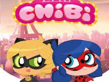 ladibug chibi - es de una caricatura de superheroes de Paris