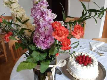 gâteau fleurs et souhaits - gâteau fleurs et souhaits