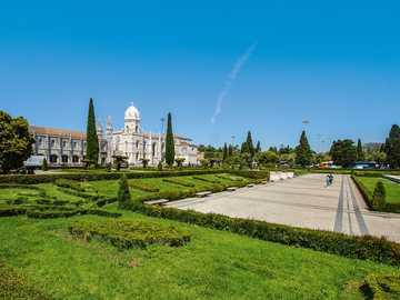Portugalia Lizbona - monastyr - klasztor - ogród