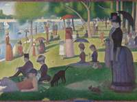 """Seurat """"a Sunday afternoon at the big Jatte"""""""