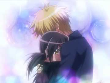 Usui Takumi and Misaki Ayuzawa - this is a screenshot from the anime of Kaichou wa maid unfortunately I can't remember the episo