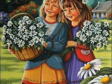 Gathering daisies =) - Gathering daisies =)