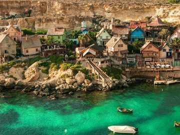 Paysage de Malte - Village de Popeye Malte ----
