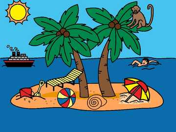 holiday island - Try to arrange the island's drawing.
