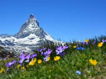 Szwajcarskie Alpy - Matterhorn najpiękniejsza góra świata