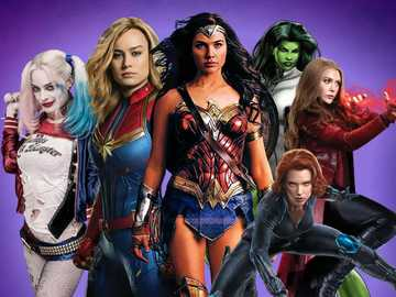 Female Superheroes - Female Superheroes Puzzle