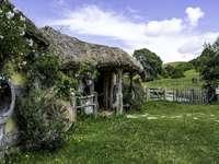 Conjunto de filme Hobbiton - Atração turística da Nova Zelândia