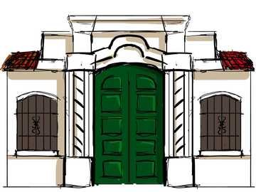 casa tucuman - puzzle per room di 5 livello iniziale. piccole impronte del giardino