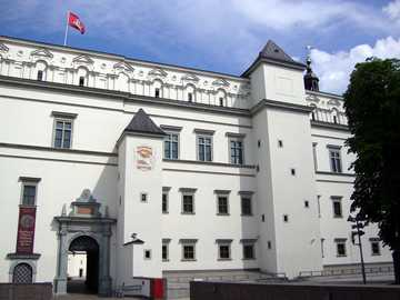 Lithuania - Vilnius - The royal palace in Vilnius at the cathedral square
