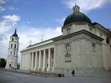 Lithuania - Vilnius - Vilnius Cathedral built in the place where holy groves grew.