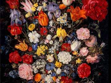 Jan Brueghel - Blumenvase mit Juwel - Der üppige Blumenstrauß, den unser Maler für Kardinal Federico gemacht hat