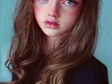 Girl light eyes - Girl light eyes