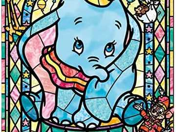 Encantador Dumbo . - Encantador Dumbo . =) Vitral