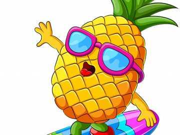 Ananas - Ananas - Dzięki tej układance dzieci uformują ananasa i ćwiczą wymowę w języku angielskim.