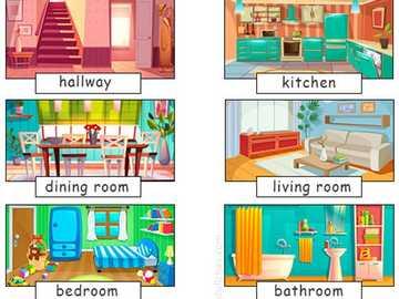 Niektóre części domu w języku angielskim - Zidentyfikuj niektóre części domu w języku angielskim.