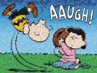 Peanuts Photomosaic: Good Grief Charlie Brown - One of the most beloved comic strips in the world can now be assembled as a treasured puzzle for gen