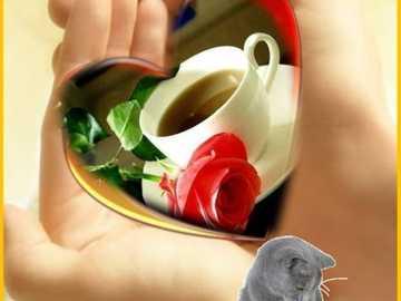benvenuto caloroso e benvenuto per un caffè - Ciao, simpatica e calorosa accoglienza