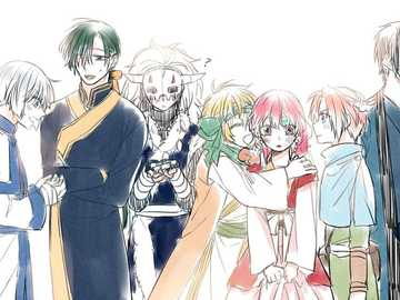 felice gruppo affamato - il felice gruppo affamato. da Akatsuki no yona o Yona dell'alba.