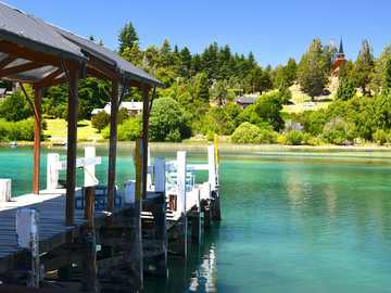 Holiday... - View of the pier and the emerald lake