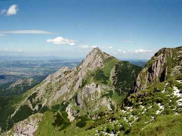 Mountain trail in the Tatras - On a mountain trail in the Tatras